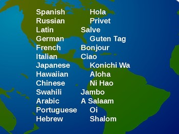 Hellos From Around the World