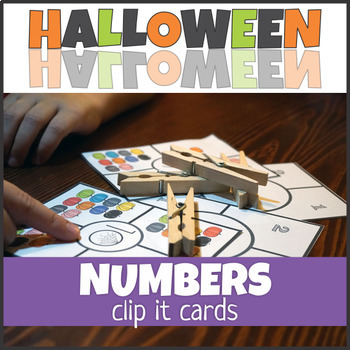 Halloween Number Clip Cards