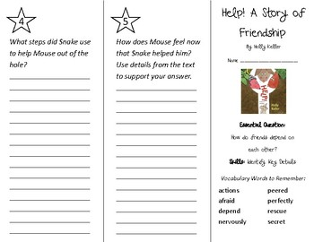 Help! A Story of Friendship Trifold - Wonders 2nd Grade Unit 1 Week 1