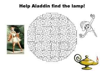 Help Aladdin find the lamp