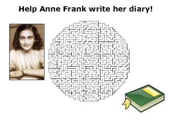 Help Anne Frank write her diary maze puzzle
