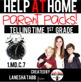 Help-At-Home Parent Packs: ANALOG CLOCKS- 1st Grade