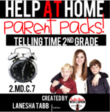 Help-At-Home Parent Packs: ANALOG CLOCKS- 2nd Grade