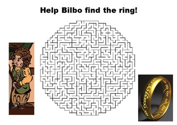 Help Bilbo find the ring - The Hobbit maze puzzle