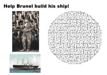 Help Brunel build his ship maze puzzle