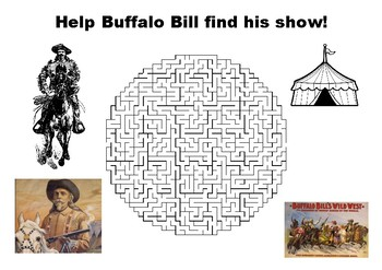 Help Buffalo Bill find his show maze puzzle
