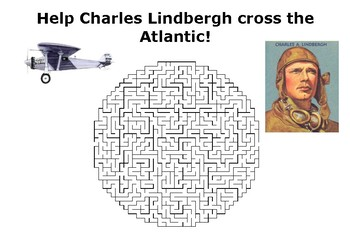 Help Charles Lindbergh cross the Atlantic maze puzzle