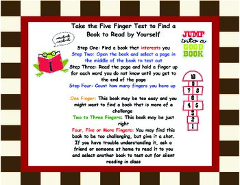 """Help Children Find the """"Just Right"""" Books to Read Independently-Strategy Tool"""