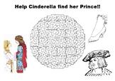 Help Cinderella find her Prince Maze Puzzle