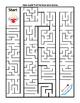 Help Cupid on Valentine's Day Maze ~ One Work Sheet w/ Key ~ Party Time