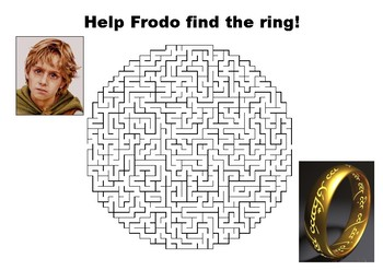 Help Frodo find the ring  - Lord of the Rings Maze Puzzle