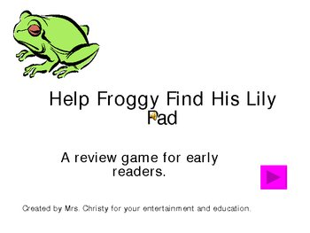 Help Froggy Get Home: A Phonics Game for /aw/