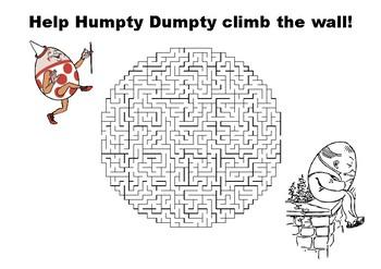 Help Humpty Dumpty climb the wall maze puzzle