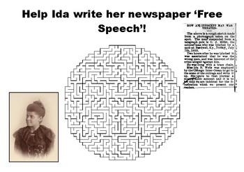 Help Ida B Wells write her newspaper maze puzzle