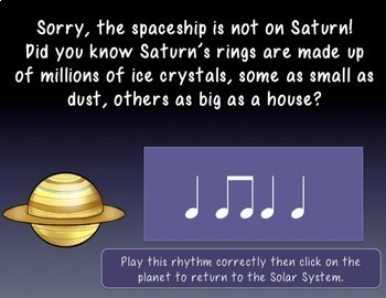 Help! I'm lost in Space! Interactive Music Rhythm Game-quarter and eighth ed.