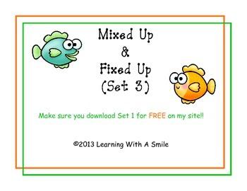 Sentence Scrambles: Mixed Up & Fixed Up (Set 3)  Cut & Paste -  Great Center!