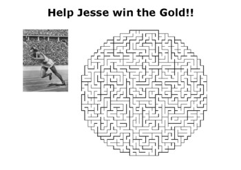 Help Jesse Owens win the Olympic Gold Maze Puzzle