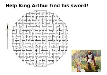Help King Arthur Maze Puzzle