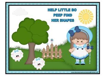 Help Little Bo Peep Find Her Shapes