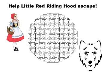 Help Little Red Riding Hood escape maze puzzle