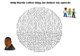 Help Martin Luther King deliver his speech maze puzzle