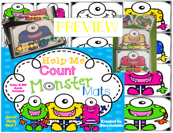 Help Me Count Monster Mats