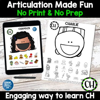 *No Print/No Prep All Smiles for Articulation 18 Activities Speech Therapy