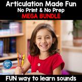 No Print Articulation and No Prep Articulation Scenes Bundle | Back to School