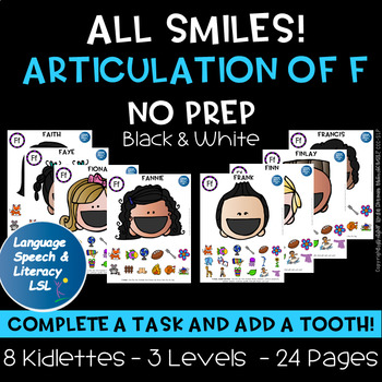 NEW - Help Me Find My Teeth Activity for Articulation of the F Sound - No Prep