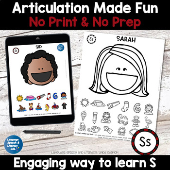 All Smiles Activity for Articulation of the S Sound - Combo