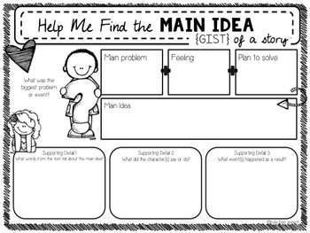 Find the Main Idea & Details Organizers {FREEBIE}