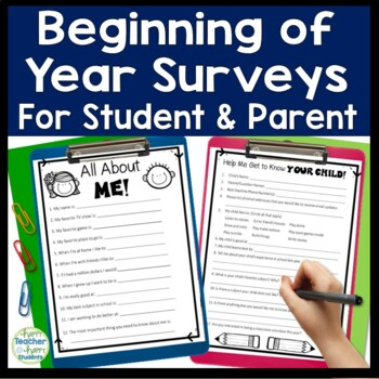 Beginning Of Year Parent Survey And Student Survey By
