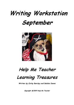 Kindergarten Writing Workstation - September Words - Help Me Teacher