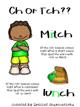 Help Mitch Find his Lunch!! ( a ch/tch board game) Orton-Gillingham Inspired
