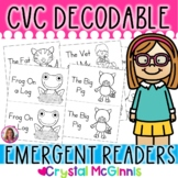 CVC Word Decodable Stories (12 CVC Word Decodable Books for Guided Reading)