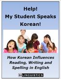 Help!  My Student Speaks Korean!
