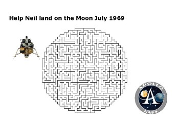 Help Neil Armstrong Land on the Moon Puzzle