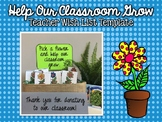 Help Our Classroom Grow ( Teacher Wish List Flower Template)