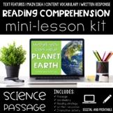 Help Planet Earth Reading Comprehension Mini Lesson for Di