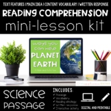 Help Planet Earth Reading Comprehension Mini Lesson for Di