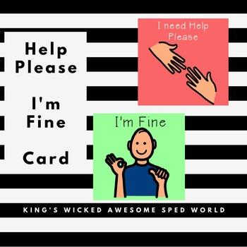 Help Please Card