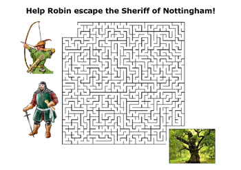 Help Robin Hood escape the Sheriff of Nottingham! Puzzle