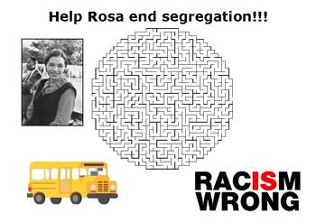 Help Rosa Parks end segregation maze puzzle