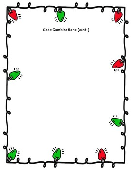 Open Ended Decomposing Numbers Holiday Activity