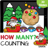 Help Santa Count How Many Dots up to 10 Kindergarten Math