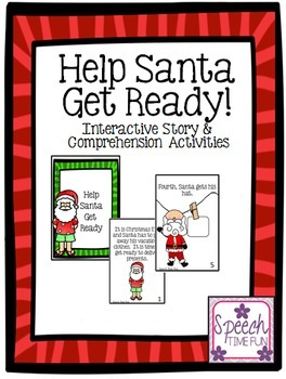Help Santa Get Ready Interactive Story and Comprehension Activities