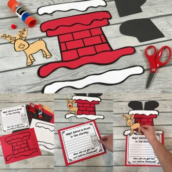 Help! Santa is Stuck in the Chimney...What Will We Do? Christmas Craft