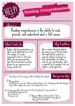 Help! Series: Reading Comprehension Parent Handout