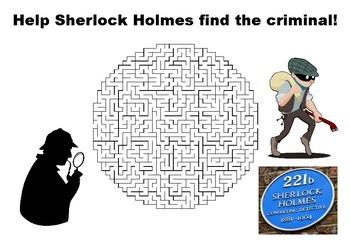 Help Sherlock Holmes find the criminal maze puzzle