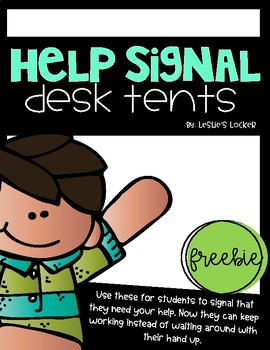 Help Signal Desk Tents FREEBIE